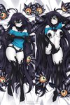 1girl alternate_eye_color aqua_eyes aqua_shirt armpits bare_shoulders barefoot black_hair blush breasts commission controller cyclops dakimakura extra_eyes game_console game_controller gazer_(monster_girl_encyclopedia) grin holding holding_game_controller lindaroze long_hair looking_at_viewer lying medium_breasts monster_girl monster_girl_encyclopedia multiple_views navel nintendo_switch no_panties off_shoulder on_back one-eyed pale_skin panties parted_lips sharp_teeth shirt simple_background slime slit_pupils smile t-shirt tail teeth tentacles thigh_gap toes two-tone_skin underwear watermark web_address white_background yellow_sclera