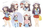 ... 1boy 1girl :d agata_(agatha) bag baseball_cap blue_(pokemon) blush breasts brown_eyes brown_hair clefairy closed_eyes coat empty_eyes gen_1_pokemon gen_2_pokemon hat long_hair medium_breasts open_mouth pokemon pokemon_(creature) pokemon_(game) pokemon_frlg red_(pokemon) red_skirt scared scarf shirt simple_background skirt sleeveless sleeveless_shirt smile snow solo_focus stuffed_toy sun_hat teddiursa text_focus trembling voodoo_doll white_background winter_clothes winter_coat
