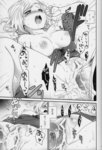 1boy 1girl :o after_sex after_vaginal breasts chikaya closed_eyes comic doujinshi estellise_sidos_heurassein female_orgasm greyscale hetero highres medium_breasts monochrome nightgown nipples open_mouth orgasm penis pubic_hair pussy sex spread_legs tales_of_(series) tales_of_vesperia torogao translated vaginal yuri_lowell