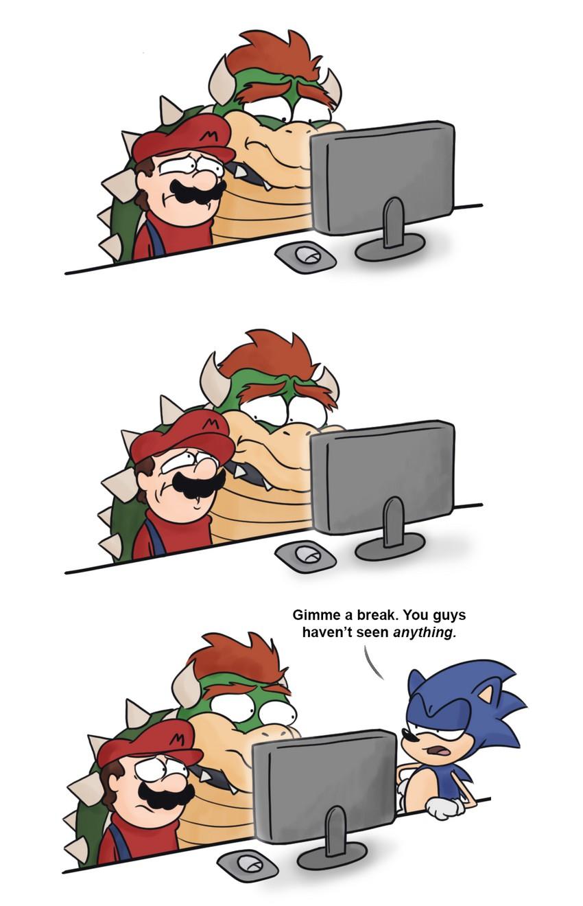 Sonic Mario Mustache   www.topsimages.com