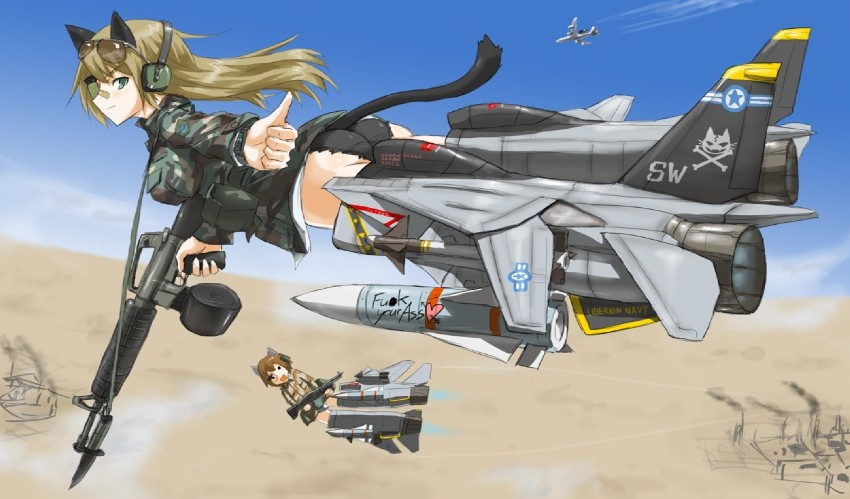 nicole bradshaw and patricia mitchell (strike witches 1991 and world witches series) drawn by dakku (ogitsune)