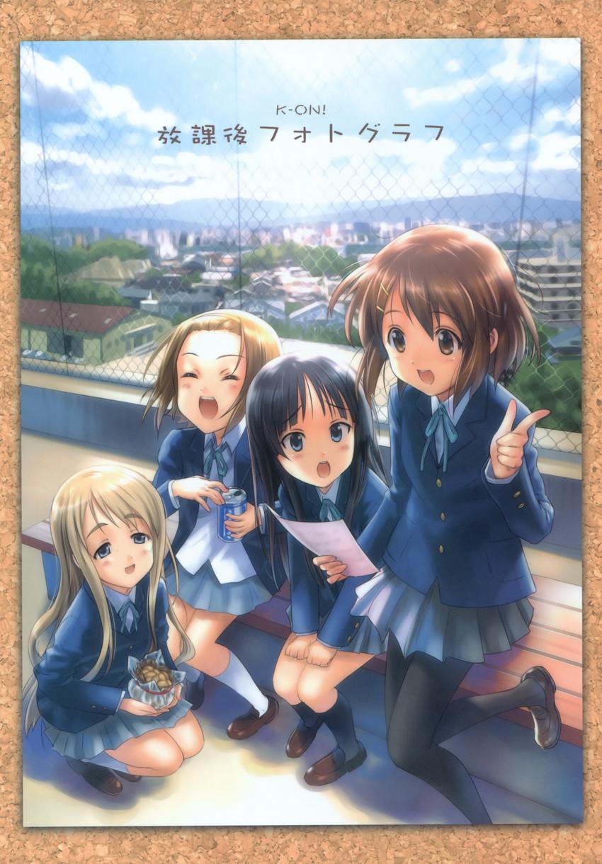 akiyama mio, hirasawa yui, kotobuki tsumugi, and tainaka ritsu (k-on!) drawn by goto p