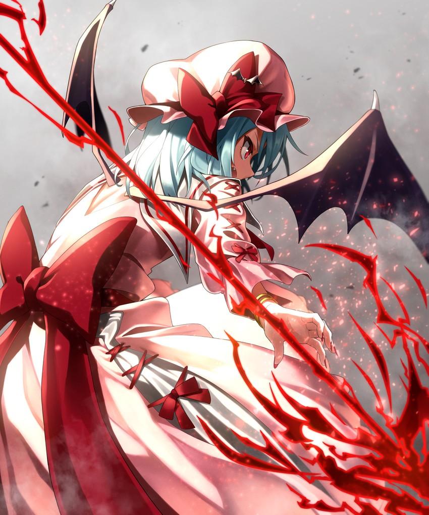 remilia scarlet (touhou) drawn by greenkohgen