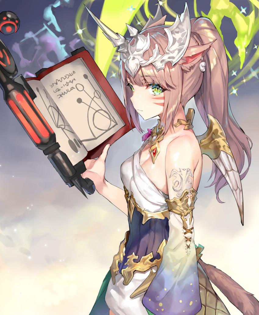 miqo'te and summoner (final fantasy and final fantasy xiv) drawn by momoko (momopoco)