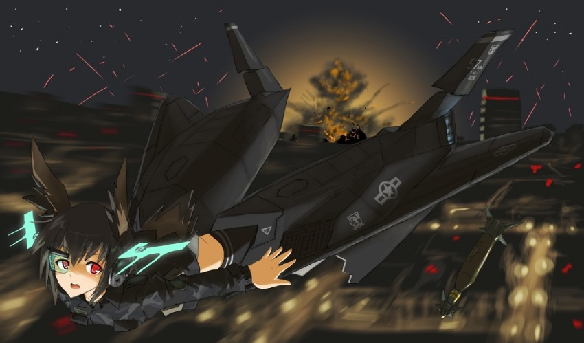 neuroi (strike witches 1991 and world witches series) drawn by dakku (ogitsune)
