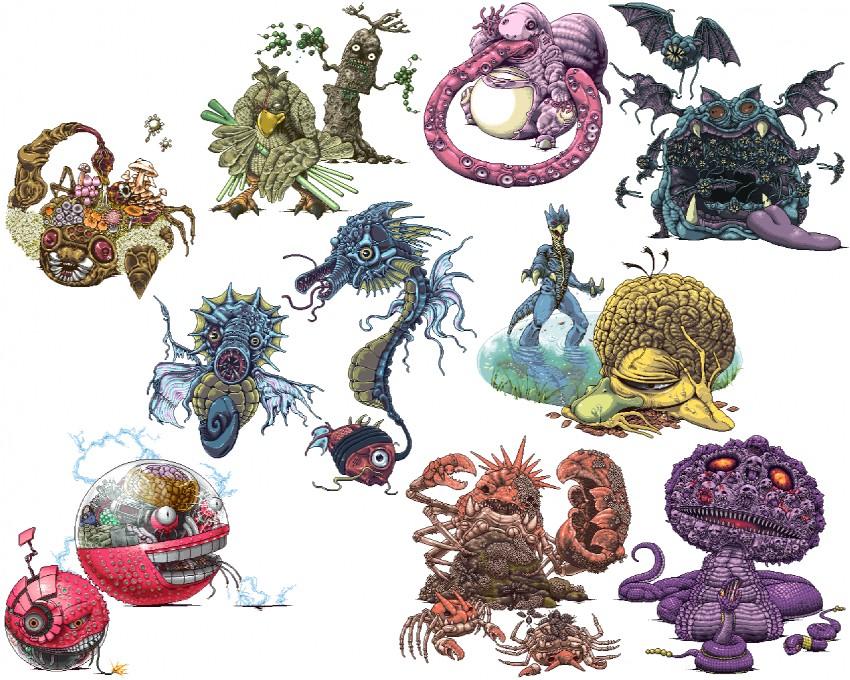 arbok, ekans, electrode, farfetch'd, golbat, and others (pokemon) drawn by tusika
