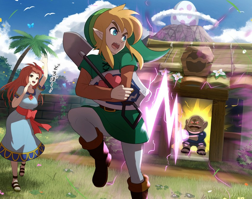 Link And Marin The Legend Of Zelda And 1 More Drawn By