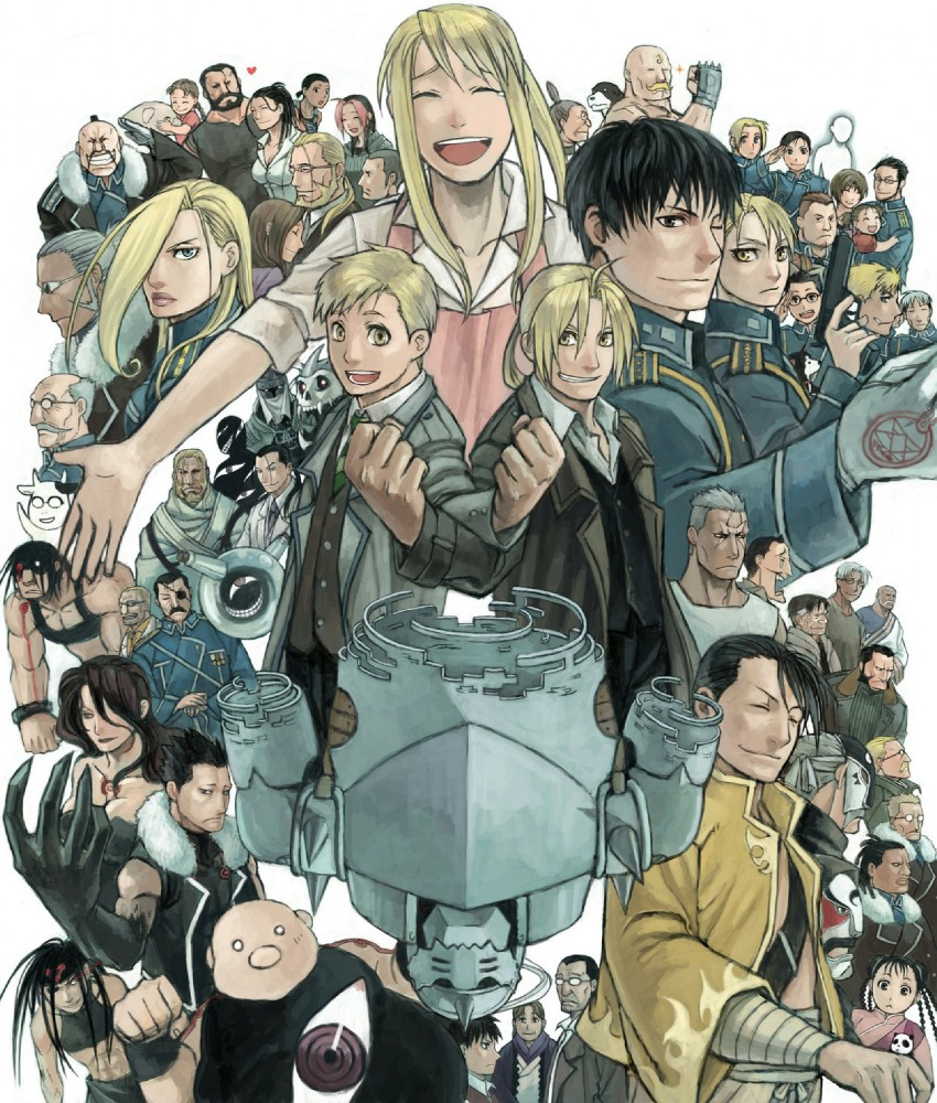 alexander, alphonse elric, arakawa hiromu, barry the chopper, black hayate, and others (fullmetal alchemist) drawn by mukuo