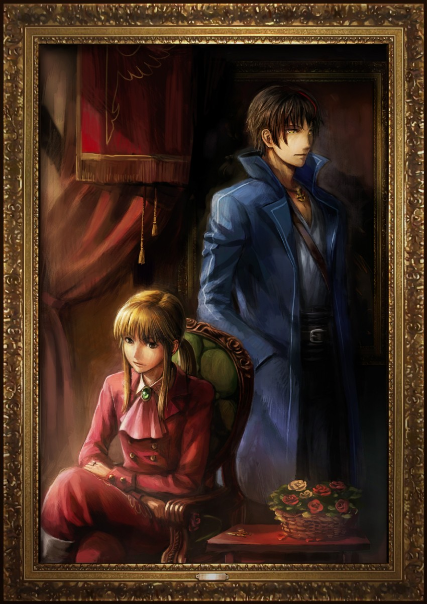 ushiromiya lion and willard h wright (requiem of the golden witch and umineko no naku koro ni) drawn by ekusa takahito