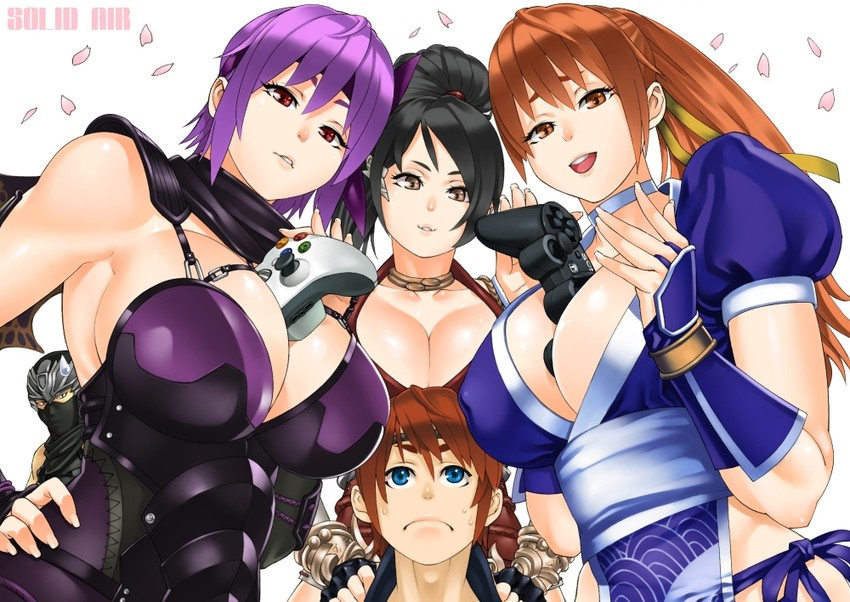 Doa ayane and kasumi threesome with hayate sfm - 3 2