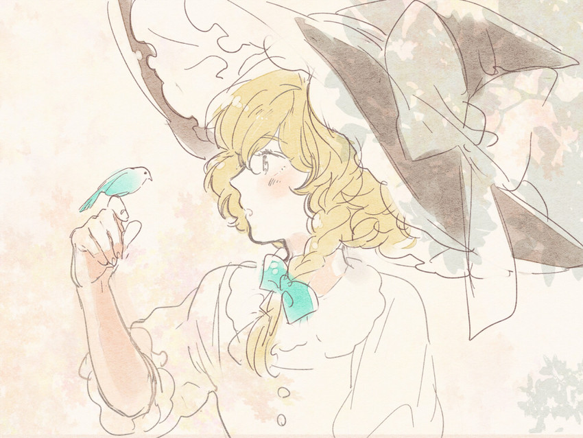 kirisame marisa (touhou) drawn by meeko