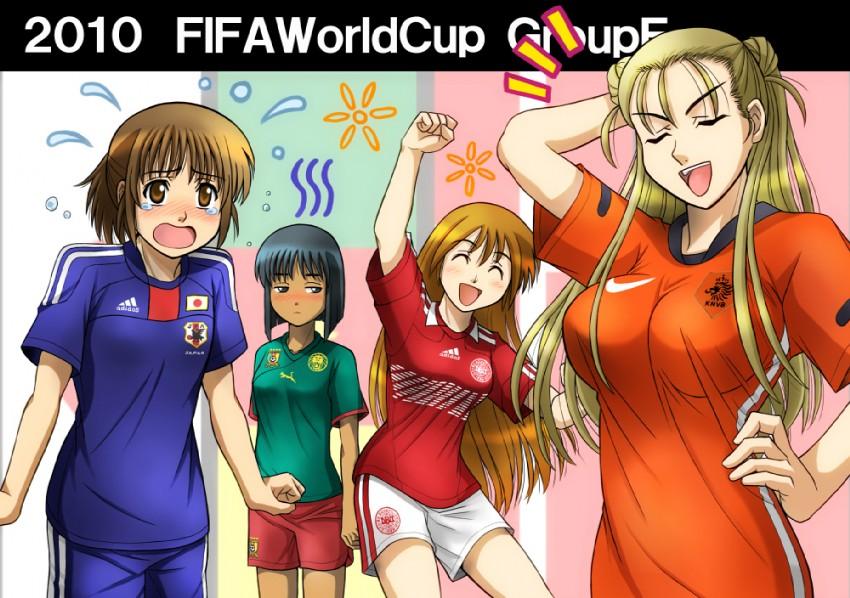 2010 fifa world cup, original, and world cup drawn by fujii satoshi