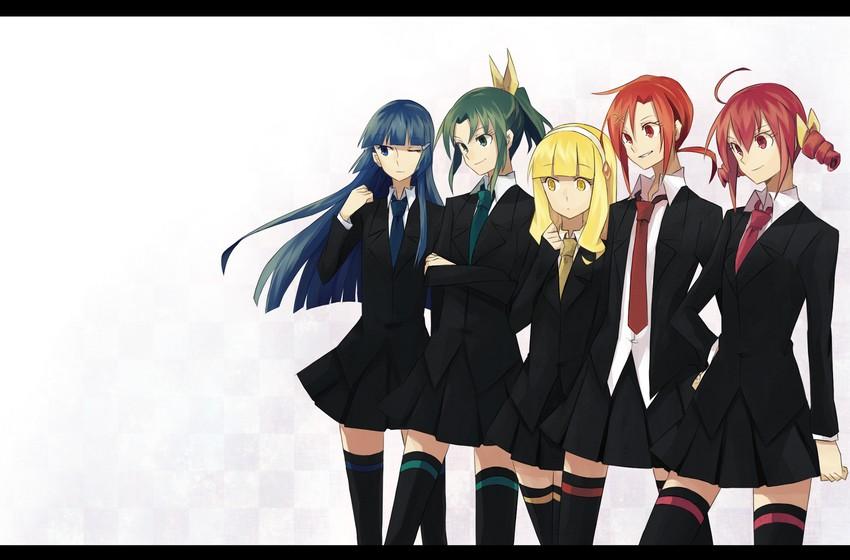 aoki reika, hino akane, hoshizora miyuki, kise yayoi, and midorikawa nao (precure and smile precure!) drawn by aoki shizumi