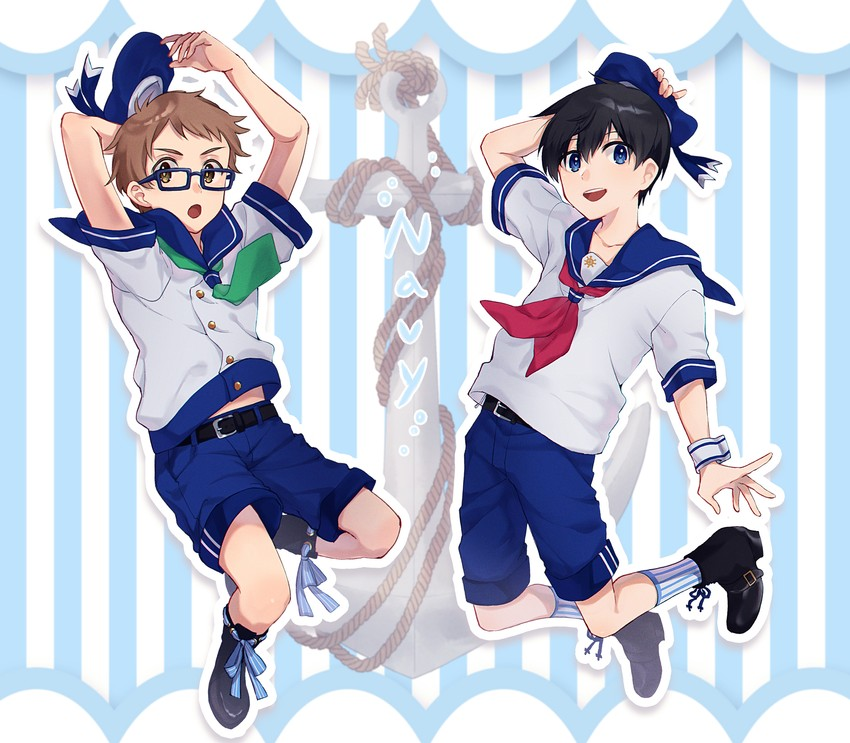 Shinjou Touma And Katsuragi Maki (hoshiai No Sora) Drawn