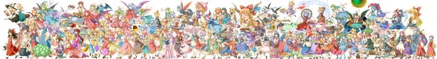aki minoriko, aki shizuha, alice margatroid, alice margatroid, asakura rikako, and others (to heart, touhou, and touhou (pc-98)) drawn by michii yuuki