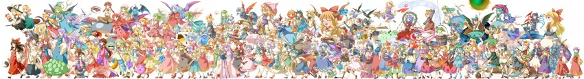 aki minoriko, aki shizuha, alice margatroid, alice margatroid, asakura rikako, and others (to heart, touhou, and touhou (pc-98)) drawn by michii yuuki