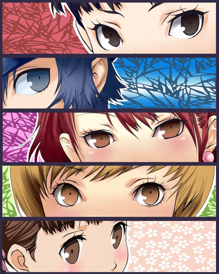 amagi yukiko, doujima nanako, kujikawa rise, satonaka chie, and shirogane naoto (persona and persona 4)