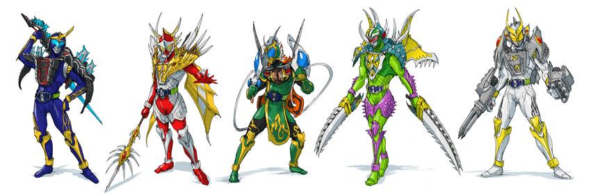 Gigan Godzilla Kamen Rider Baron Kamen Rider Bravo