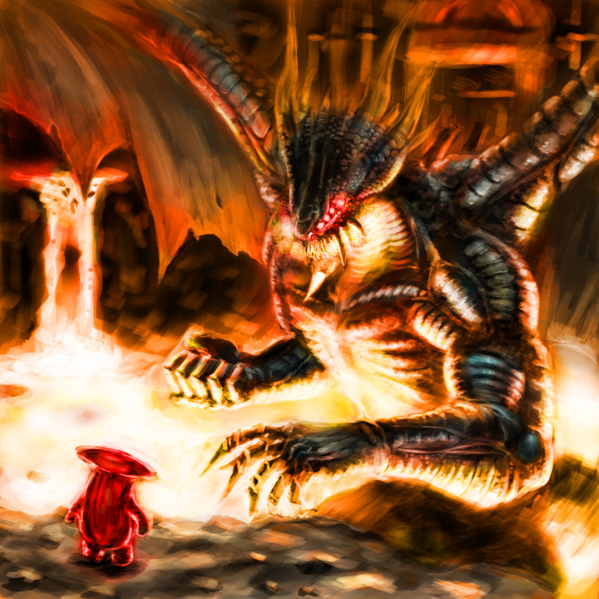 dragon god and mushroom parent dark souls demons souls