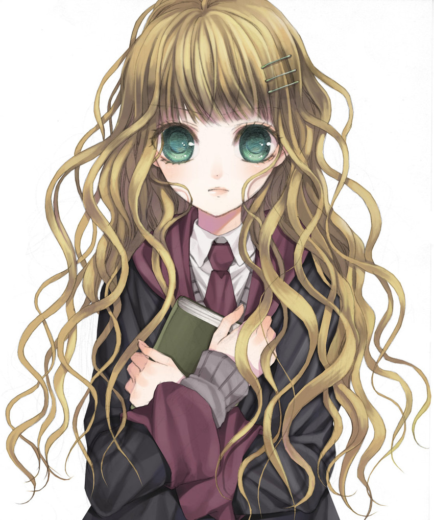 hermione granger (harry potter) drawn by tsukino omame