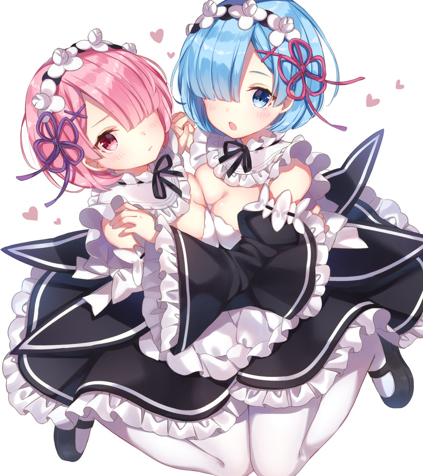 ram and rem (re:zero kara hajimeru isekai seikatsu) drawn by jimmy