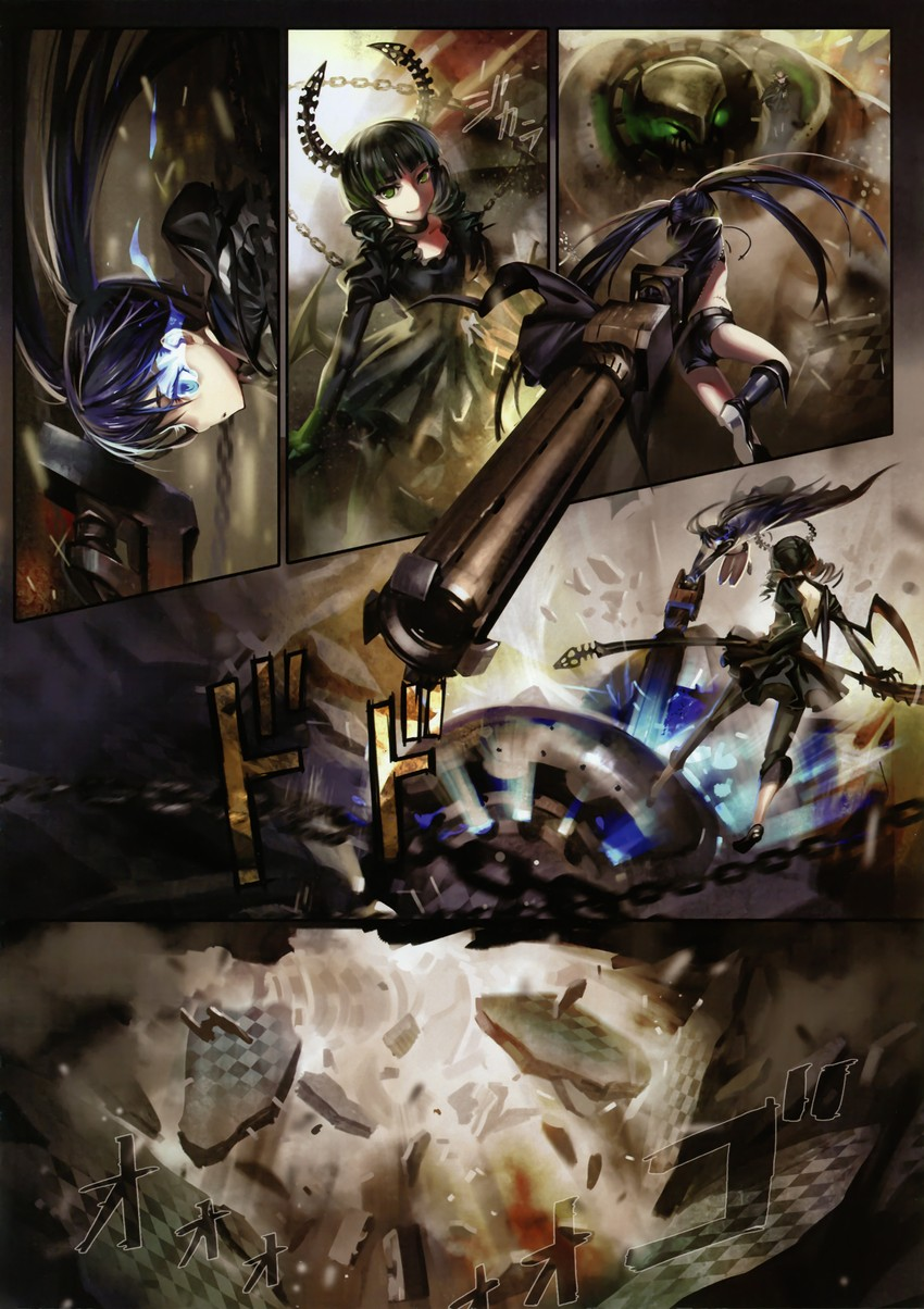 black rock shooter and dead master (black rock shooter) drawn by alphonse (white datura)