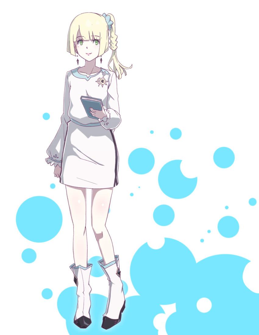 lillie (pokemon, pokemon (game), and pokemon sm) drawn by konbari tariumu