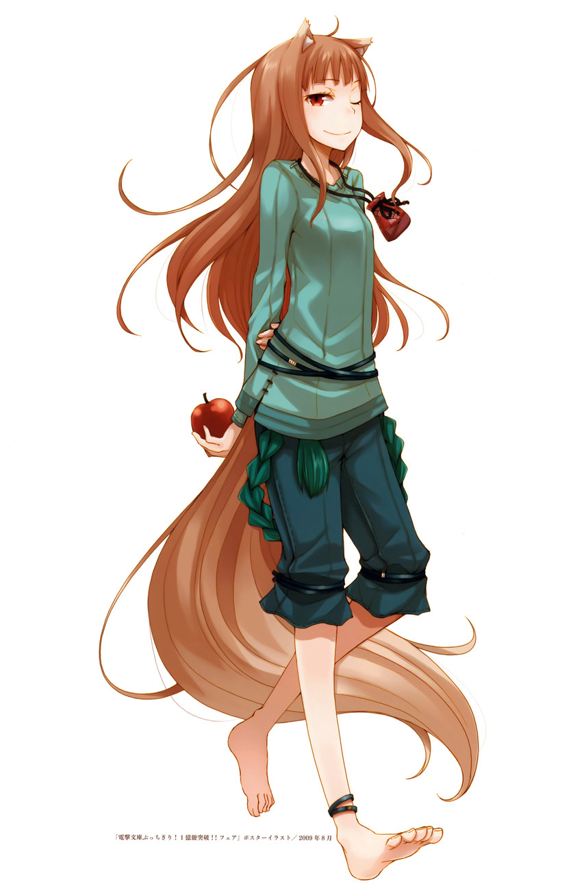 holo (spice and wolf) drawn by ayakura juu
