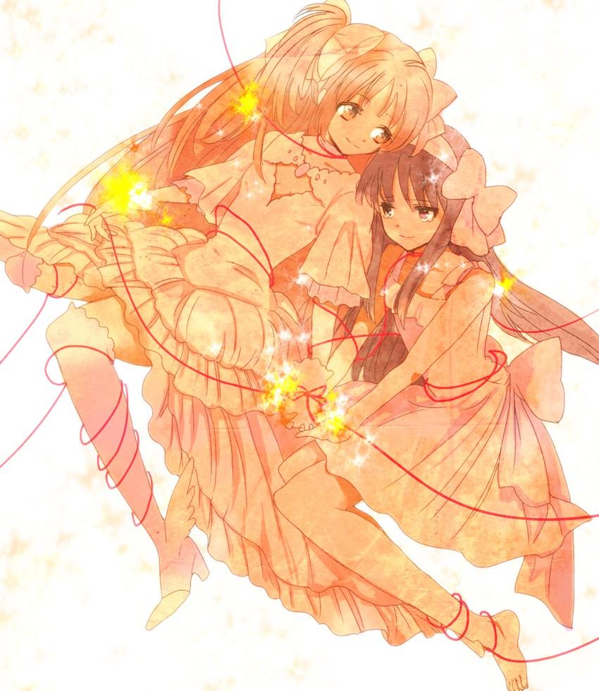 akemi homura, kaname madoka, and ultimate madoka (mahou shoujo madoka magica) drawn by 8mit