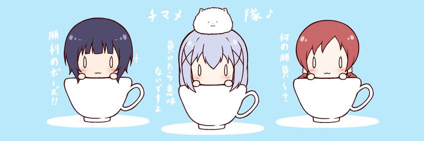 jouga maya, kafuu chino, natsu megumi, and tippy (gochuumon wa usagi desu ka?) drawn by mitarashi neko (aamr7853)
