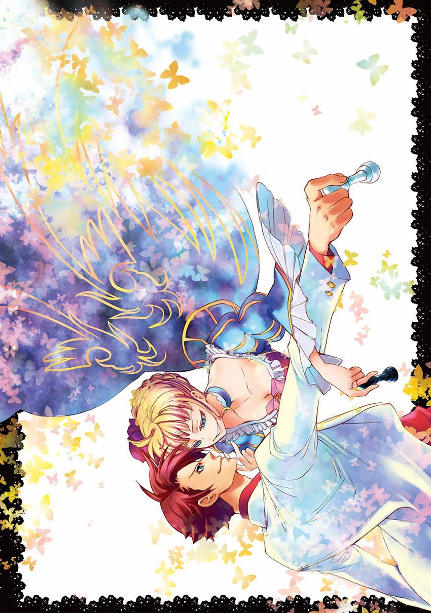 beatrice and ushiromiya battler (umineko no naku koro ni) drawn by natsumi kei