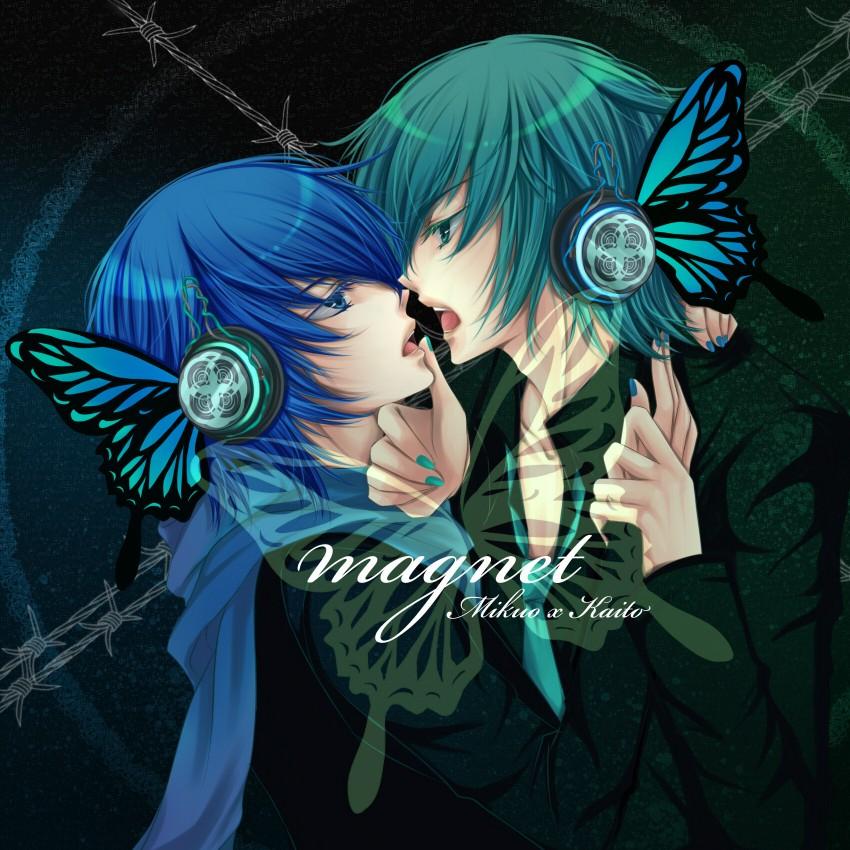 hatsune mikuo and kaito (magnet (vocaloid) and vocaloid) drawn by zukiyuki
