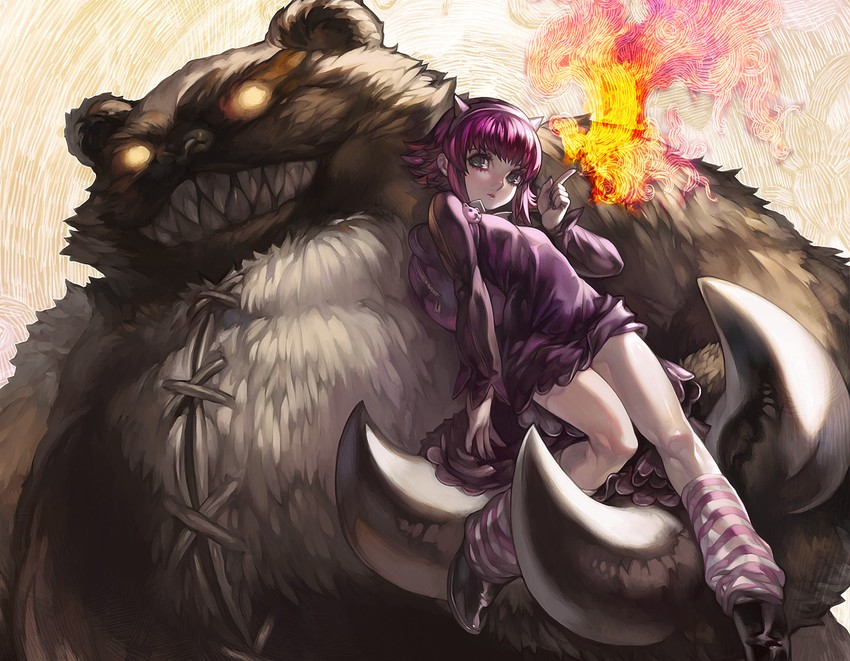Annie Hastur And Tibbers League Of Legends Drawn By Aoin Danbooru