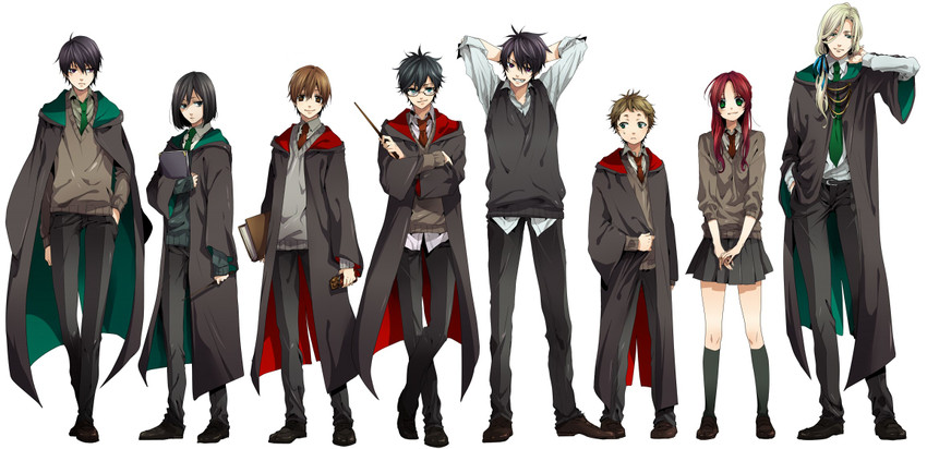 james potter, lily evans, lucius malfoy, peter pettigrew, regulus arcturus black, and others (harry potter) drawn by nakagawa waka