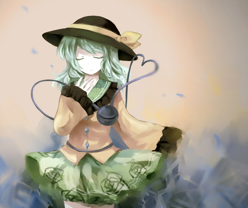 komeiji koishi (touhou) drawn by kokuneko (graycat06)
