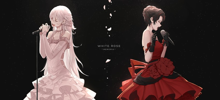 ruby rose and weiss schnee (rwby) drawn by dishwasher1910