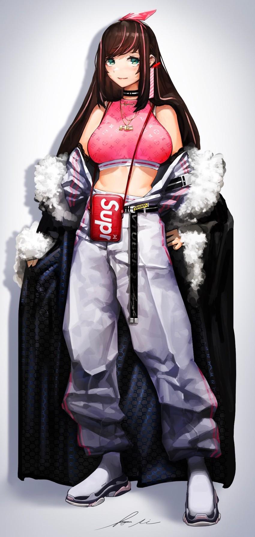 kizuna ai (a.i. channel and etc) drawn by ryoga