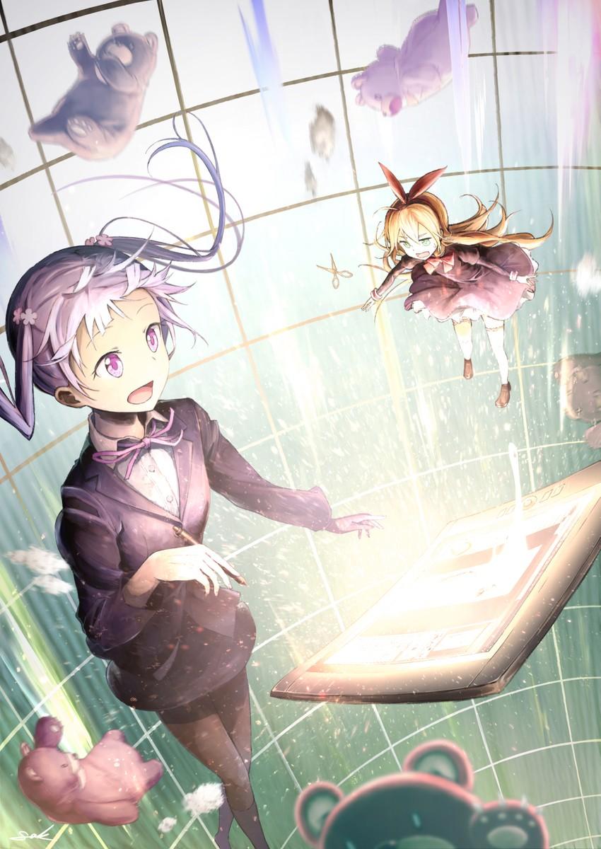 suzukaze aoba (peco (new game!) and etc) drawn by sak (user yarg)