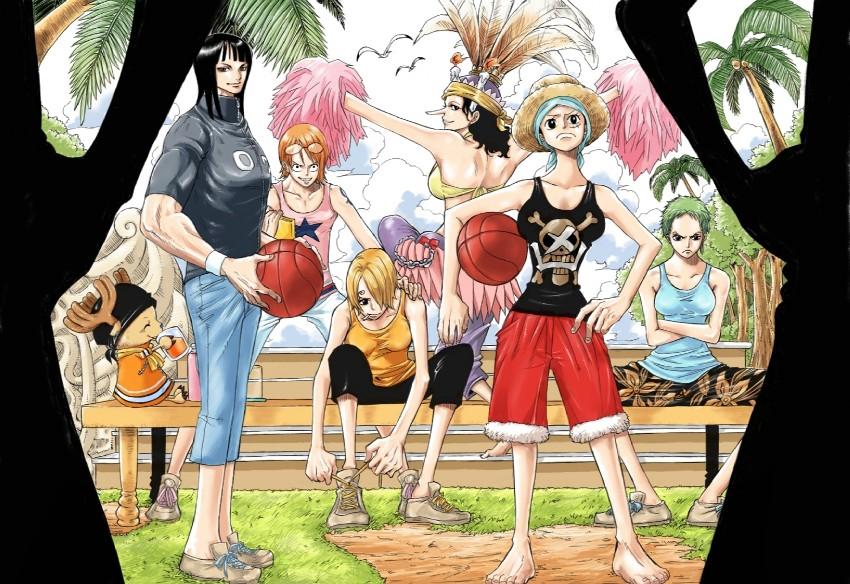 Nami Nico Robin Monkey D Luffy Roronoa Zoro Sanji And 2 More One Piece Drawn By Choker Pixiv Danbooru