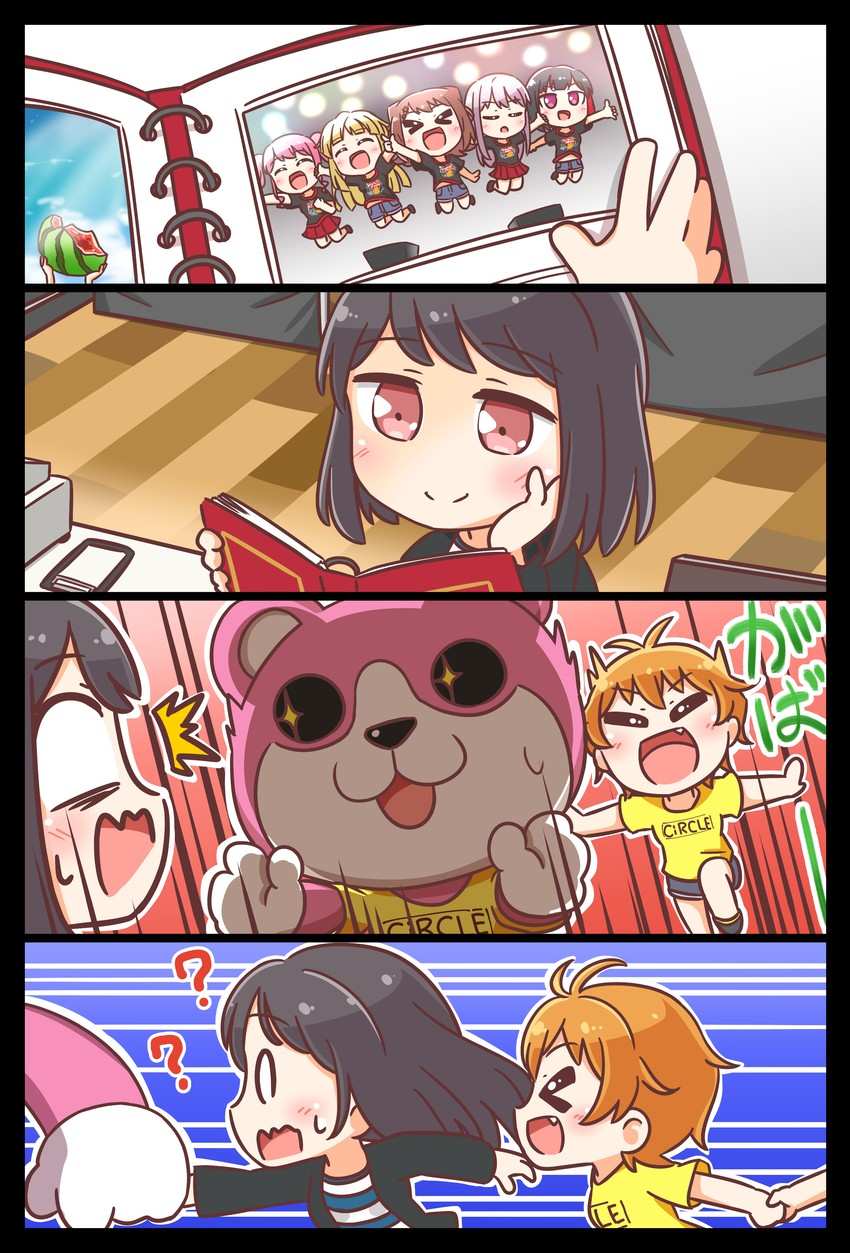 michelle, tsukishima marina, tsurumaki kokoro, kitazawa hagumi, minato yukina, and etc (bang dream!) drawn by kyou (user gpks5753)