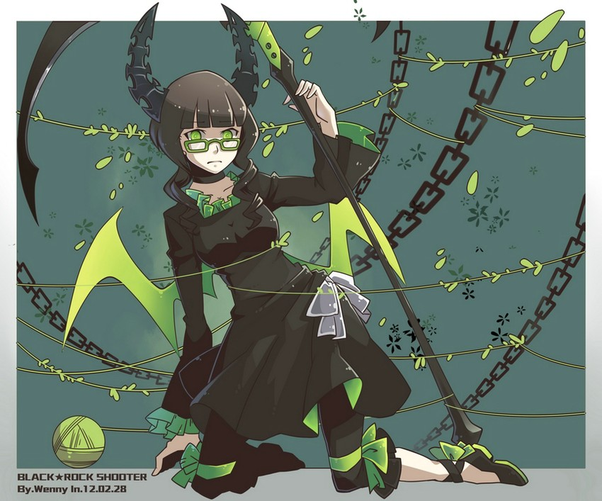 dead master (black rock shooter) drawn by wenny02