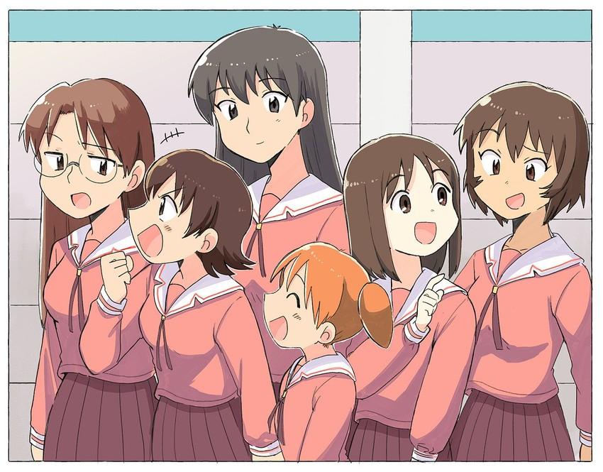 kagura, mizuhara koyomi, kasuga ayumu, mihama chiyo, takino tomo, and etc (azumanga daiou) drawn by tsubobot