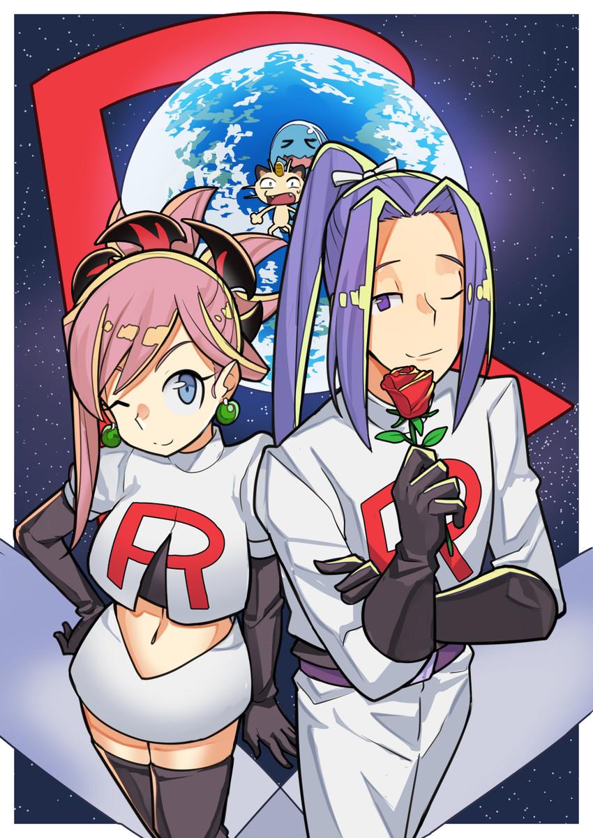 assassin, kojirou, meowth, miki shin'ichirou, miyamoto musashi, and others (fate/grand order, fate (series), pokemon, and pokemon (anime)) drawn by sen-jou