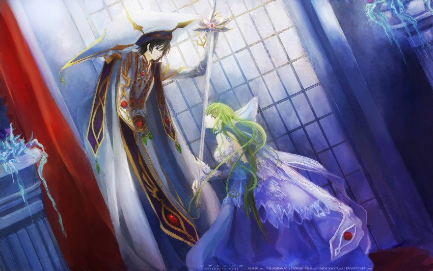 c.c. and lelouch lamperouge (code geass)