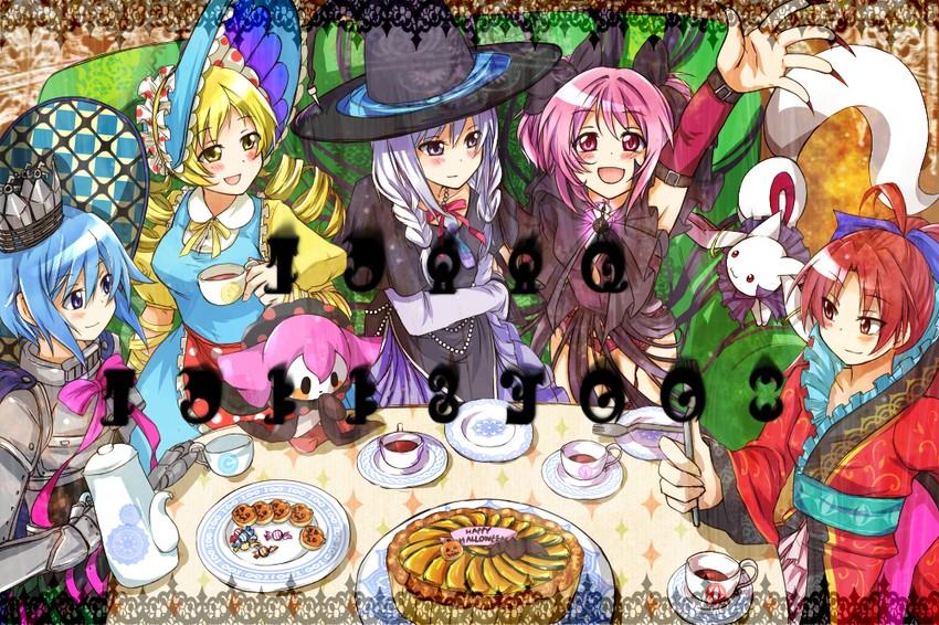 akemi homura, candeloro, charlotte, homulilly, kaname madoka, and others (mahou shoujo madoka magica)
