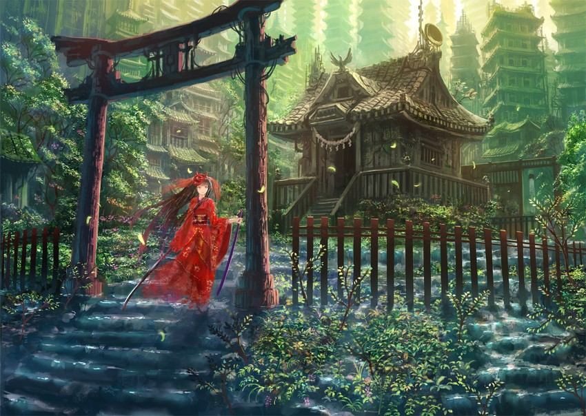 temple japan landscape wallpaper - photo #19