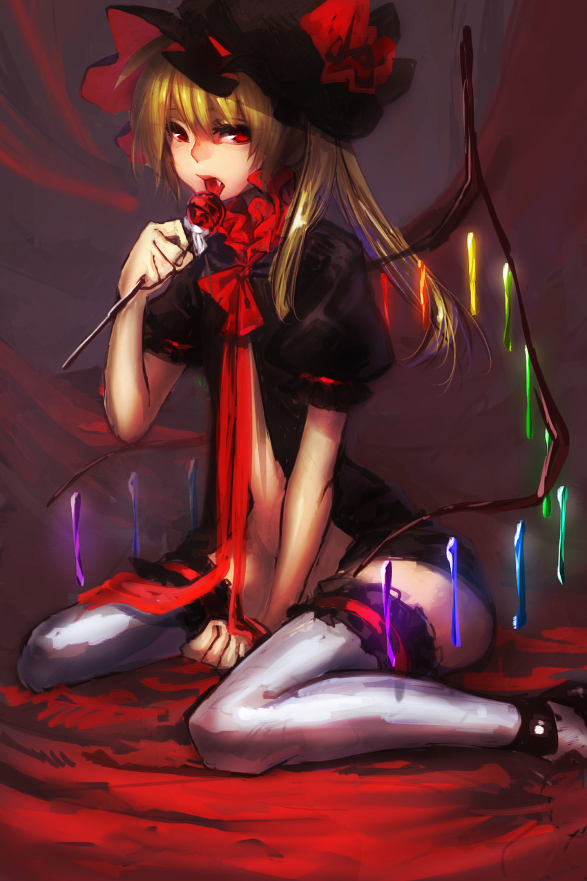 flandre scarlet (touhou) drawn by etc (tishikiganai)