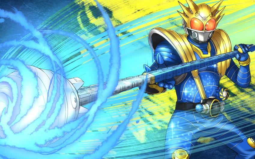 kamen rider meteor (kamen rider and kamen rider fourze (series)) drawn by purinnssu