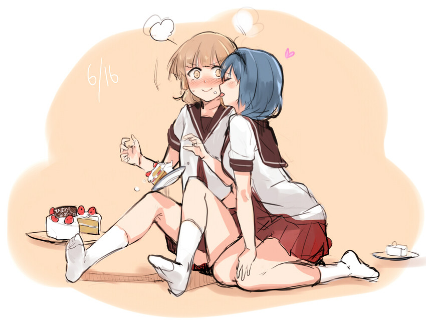 furutani himawari and oomuro sakurako (yuru yuri) drawn by ibityuttyu