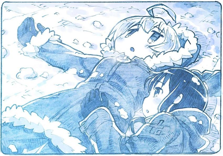 chito and yuuri (shoujo shuumatsu ryokou) drawn by sakino shingetsu